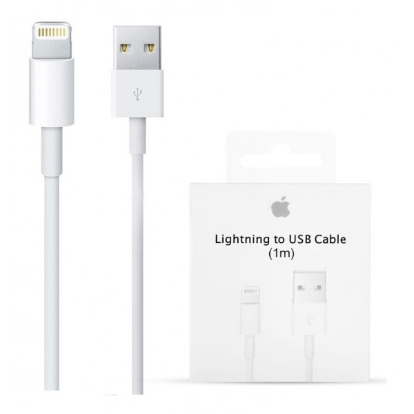 CABLE IPHONE LIGTHING ORIGINAL - BLANCO