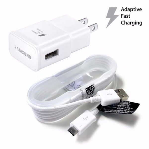 CARGADOR SAMSUNG MICRO USB  - BLANCO