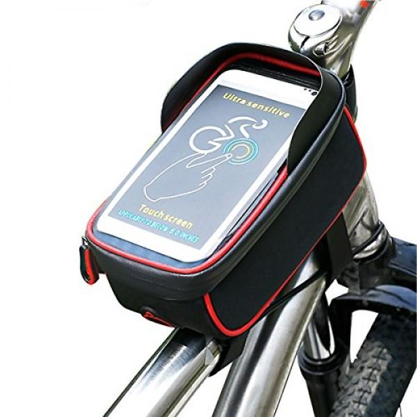 "HOLDER BICYCLE BAG NEGRO/ROJO 5.5"""
